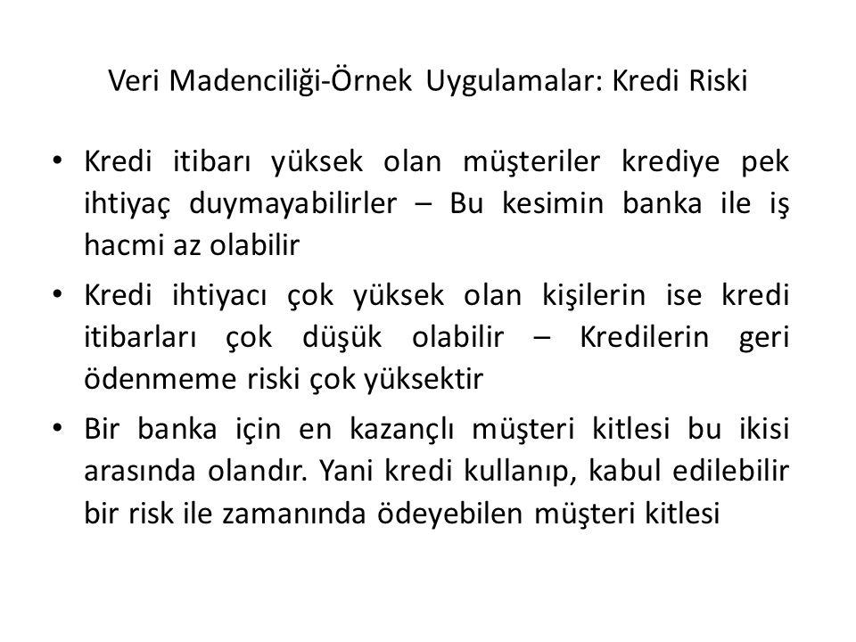 Veri Madenciliği-Örnek Uygulamalar: Kredi Riski