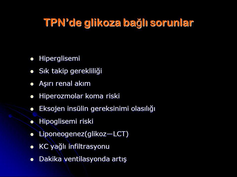 TPN'de glikoza bağlı sorunlar