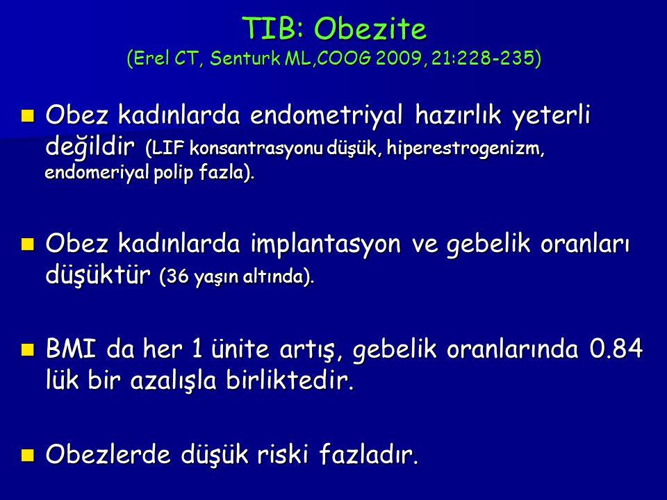 TIB: Obezite (Erel CT, Senturk ML,COOG 2009, 21:228-235)