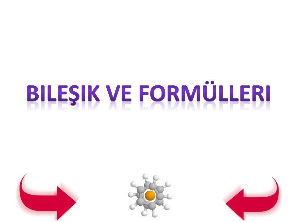 Bileşik ve formülleri