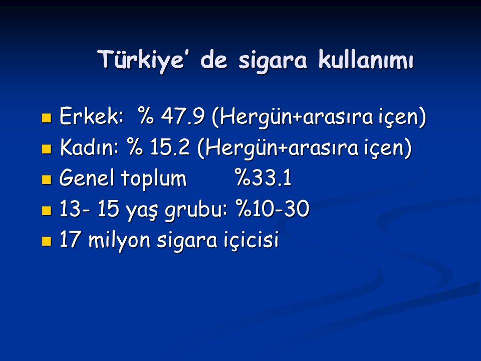 Türkiye' de sigara kullanımı