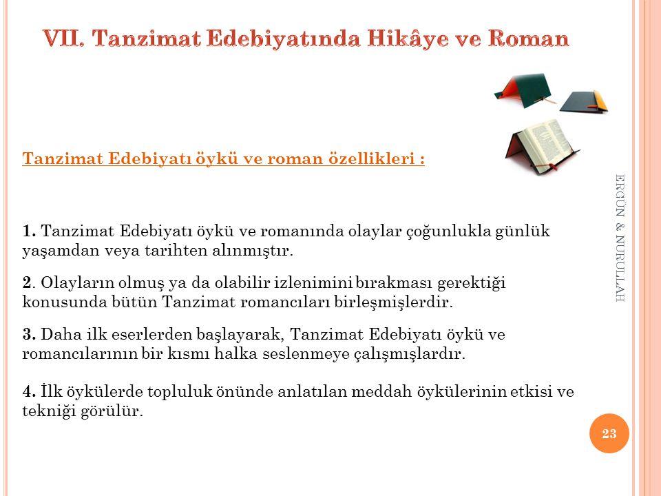 VII. Tanzimat Edebiyatında Hikâye ve Roman