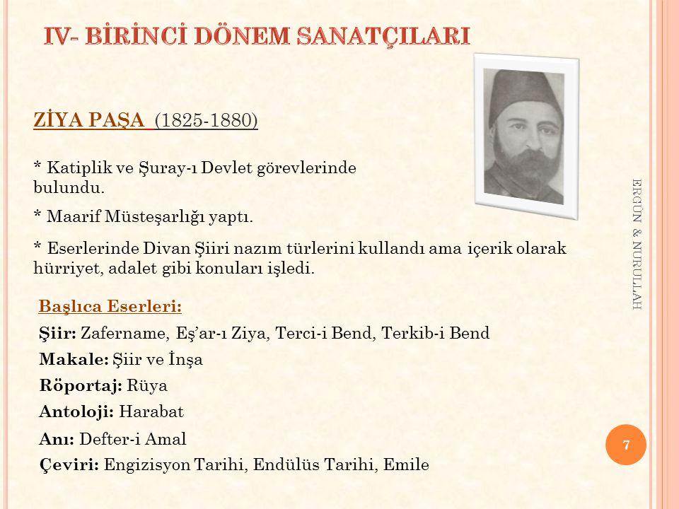 IV- BİRİNCİ DÖNEM SANATÇILARI