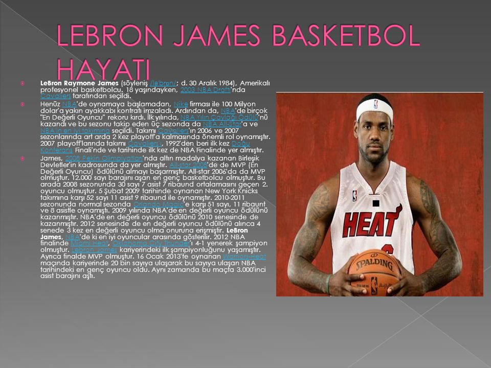 LEBRON JAMES BASKETBOL HAYATI