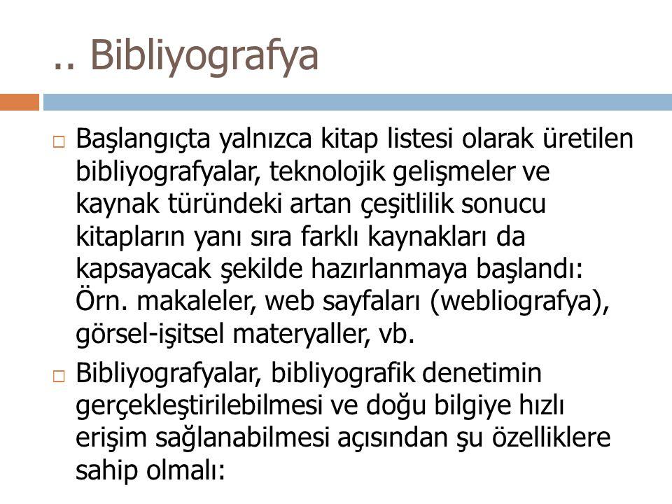 .. Bibliyografya