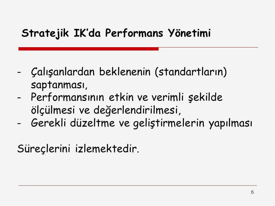 Stratejik IK'da Performans Yönetimi