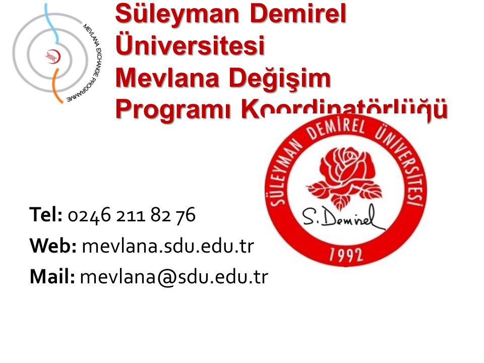 Süleyman Demirel Üniversitesi Mevlana Değişim Programı Koordinatörlüğü