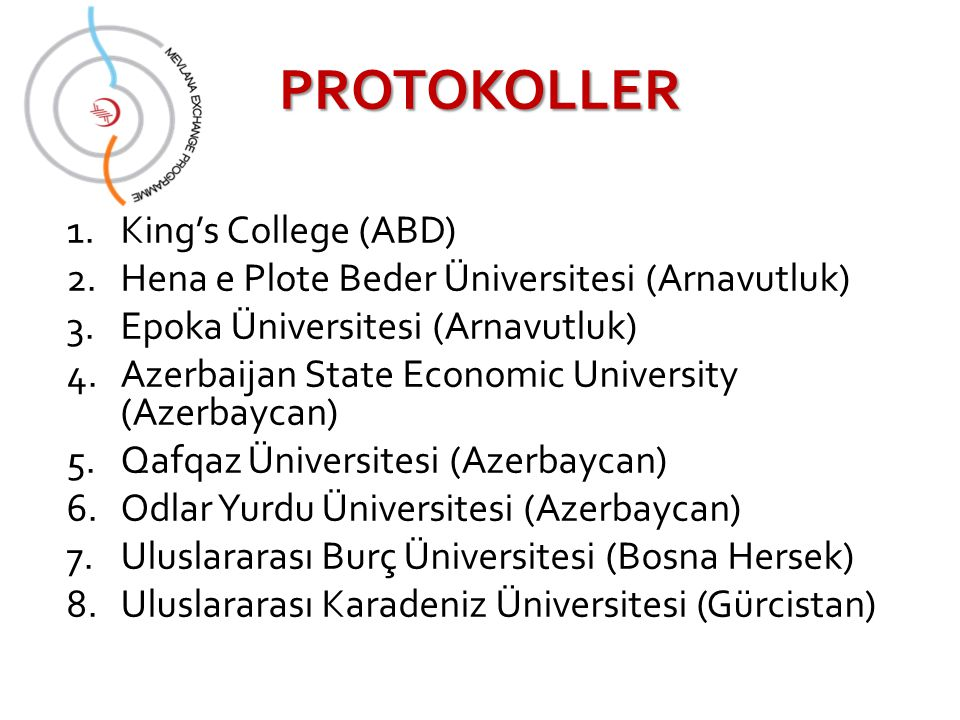 PROTOKOLLER King's College (ABD)