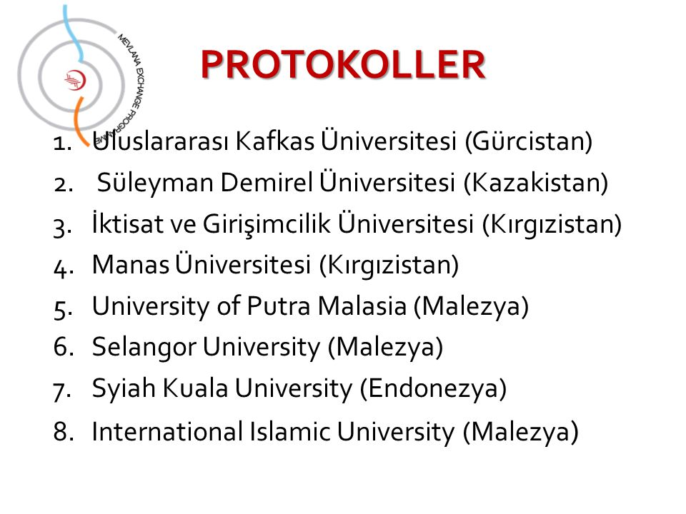 PROTOKOLLER Uluslararası Kafkas Üniversitesi (Gürcistan)
