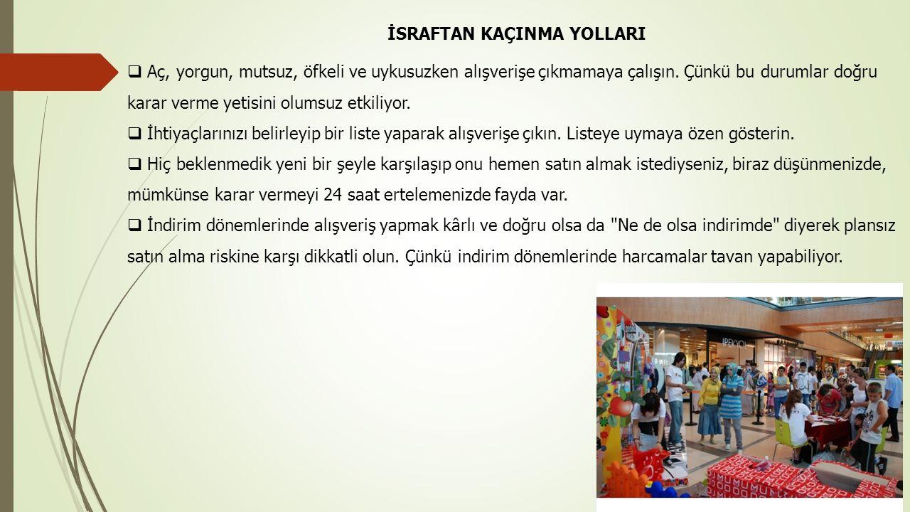 İSRAFTAN KAÇINMA YOLLARI