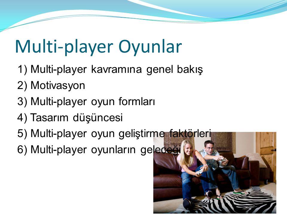 Multi-player Oyunlar 1) Multi-player kavramına genel bakış