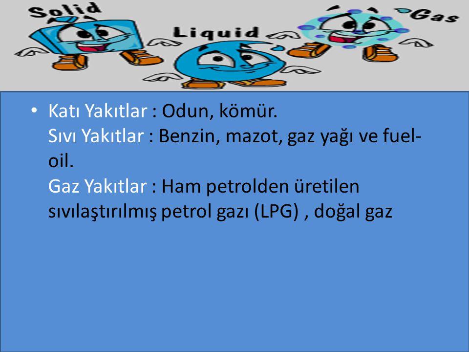 Katı Yakıtlar : Odun, kömür