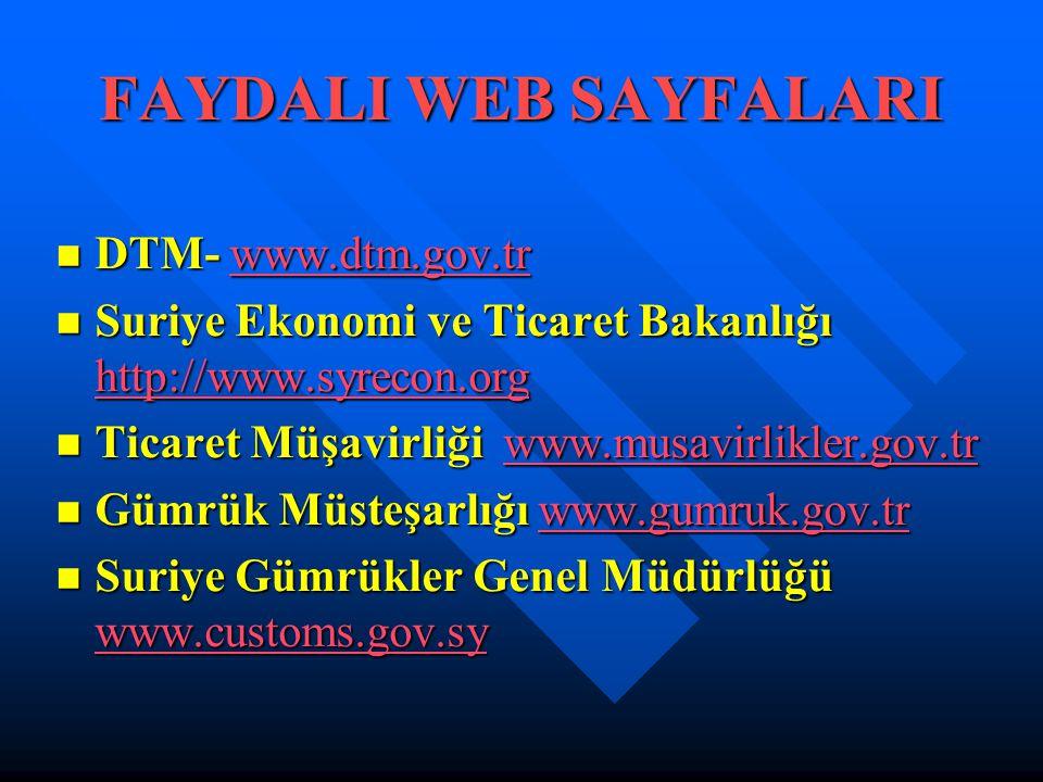 FAYDALI WEB SAYFALARI DTM- www.dtm.gov.tr