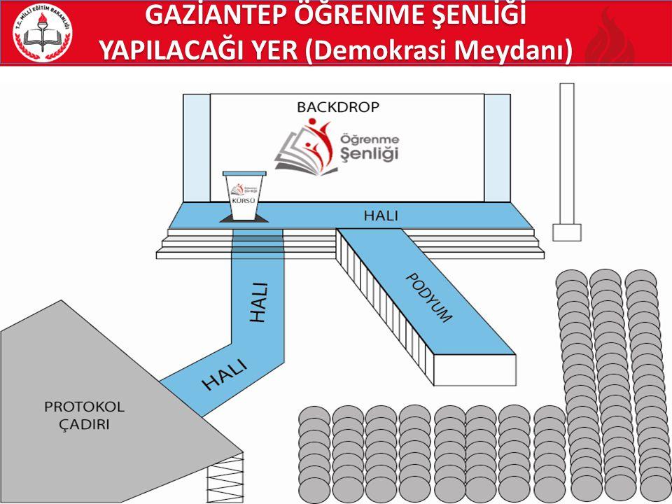 GAZİANTEP ÖĞRENME ŞENLİĞİ YAPILACAĞI YER (Demokrasi Meydanı)
