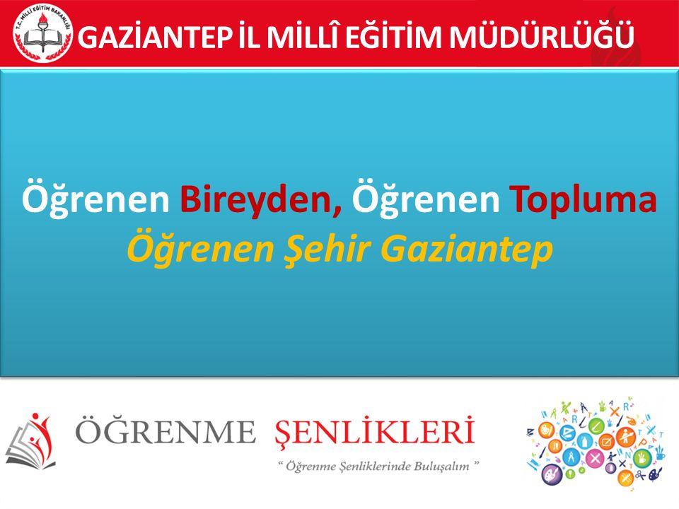 Öğrenen Bireyden, Öğrenen Topluma Öğrenen Şehir Gaziantep