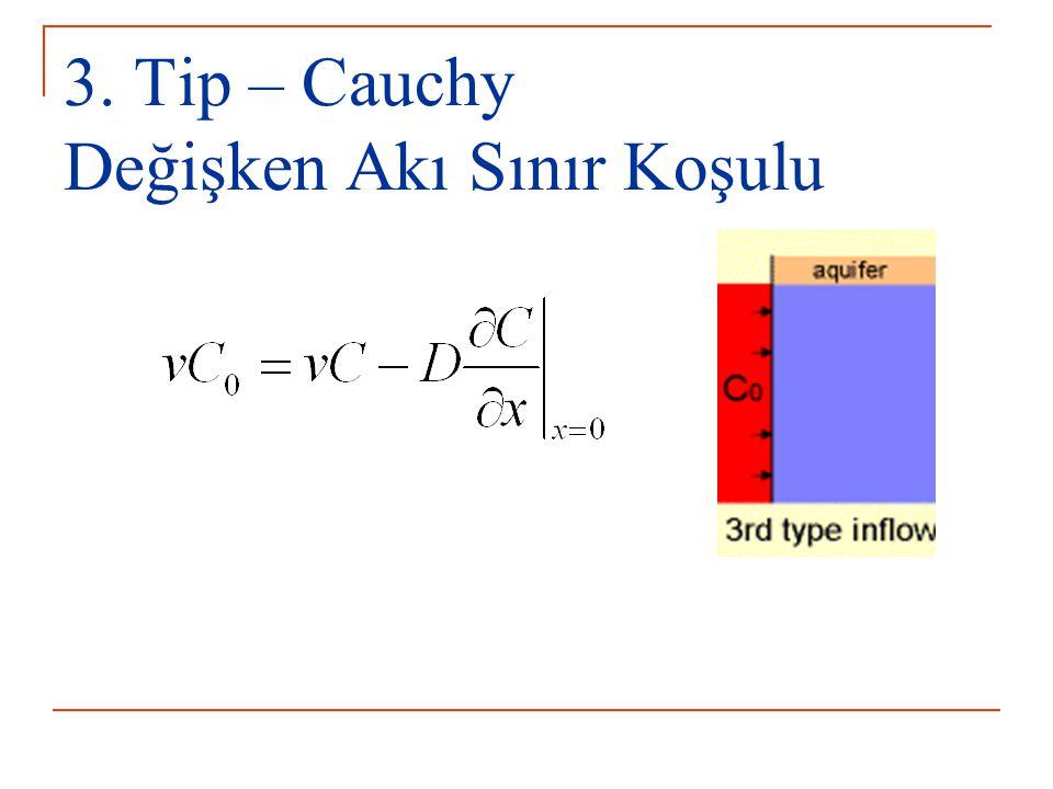 3. Tip – Cauchy Değişken Akı Sınır Koşulu
