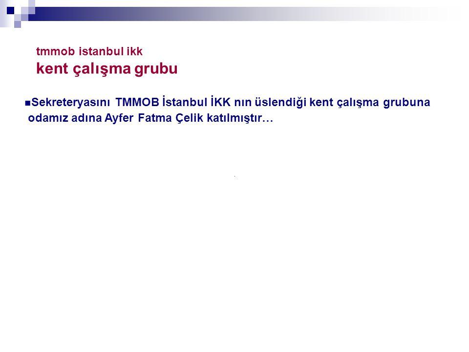 tmmob istanbul ikk kent çalışma grubu
