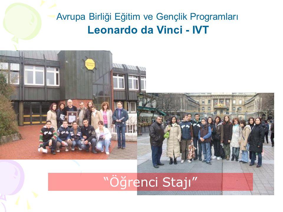 Avrupa Birliği Eğitim ve Gençlik Programları Leonardo da Vinci - IVT