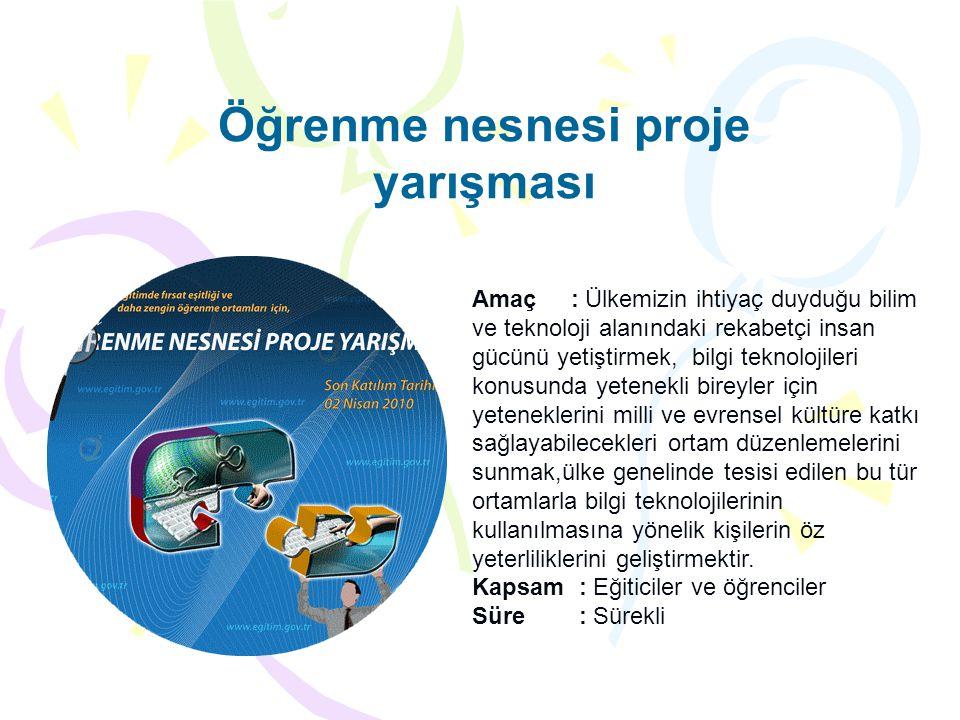 Öğrenme nesnesi proje yarışması