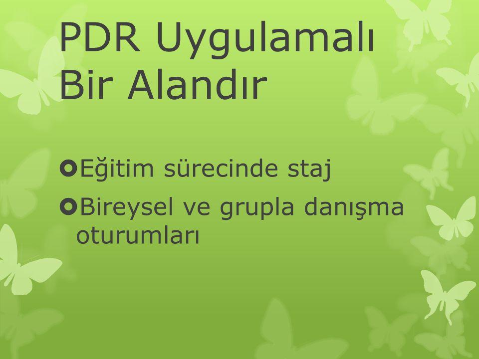 PDR Uygulamalı Bir Alandır