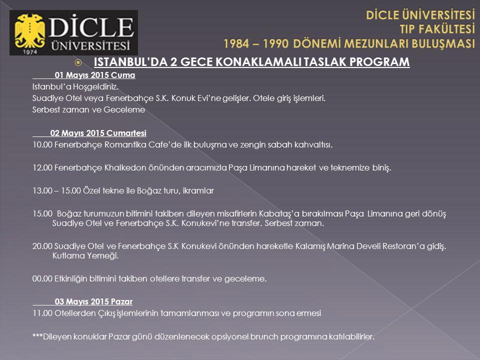 ISTANBUL'DA 2 GECE KONAKLAMALI TASLAK PROGRAM