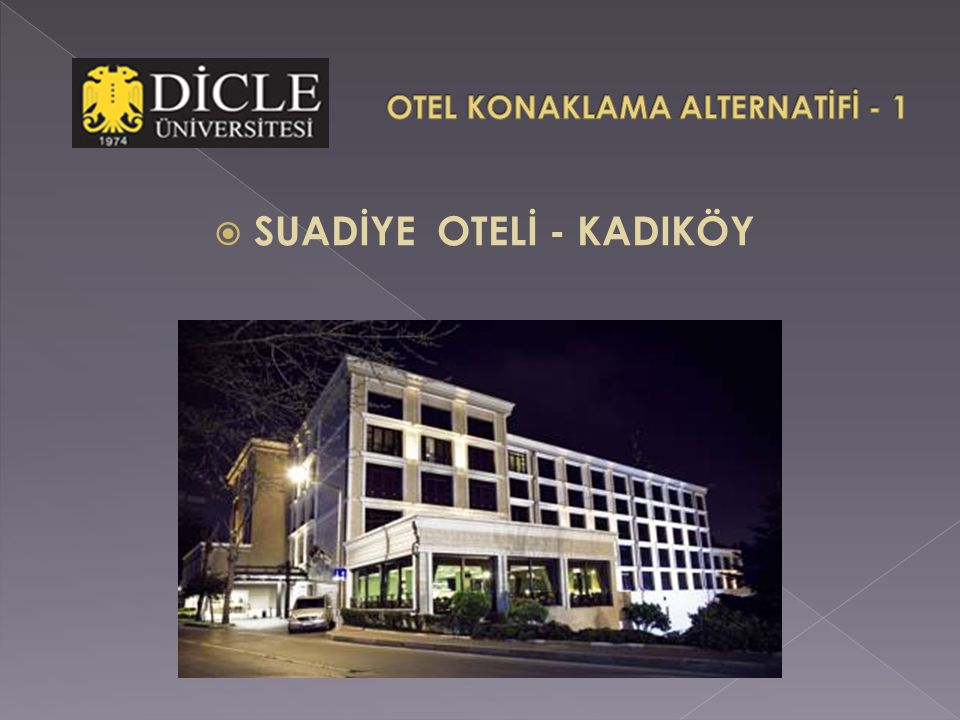 OTEL KONAKLAMA ALTERNATİFİ - 1