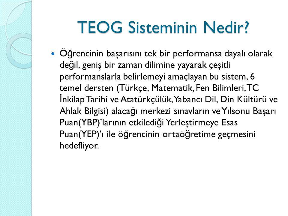 TEOG Sisteminin Nedir