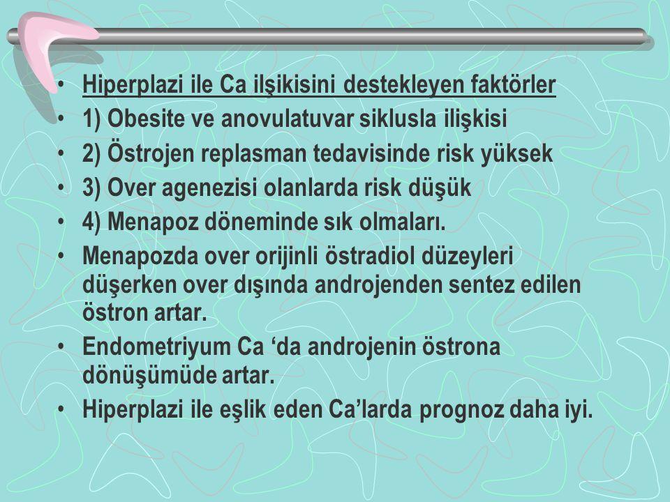 Hiperplazi ile Ca ilşikisini destekleyen faktörler