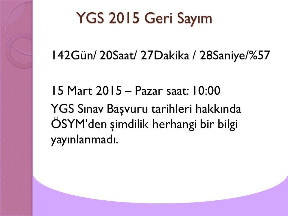 YGS 2015 Geri Sayım