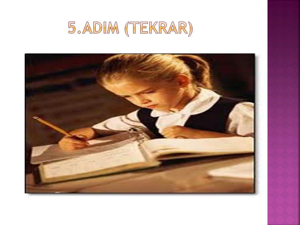 5.ADIM (TEKRAR)