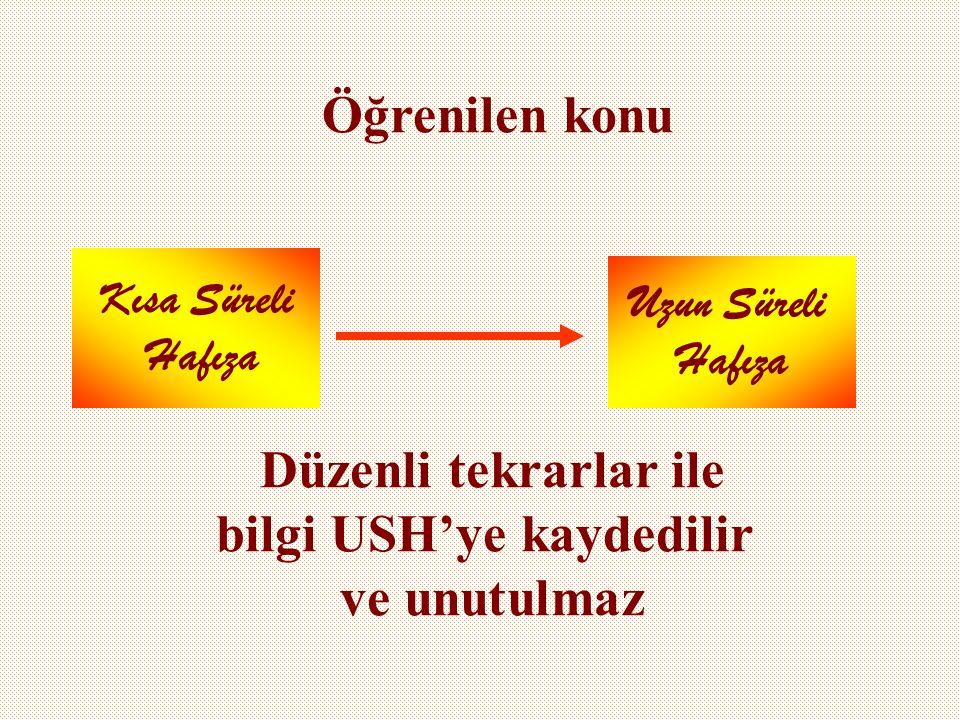 bilgi USH'ye kaydedilir