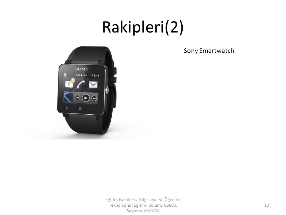 Rakipleri(2) Sony Smartwatch