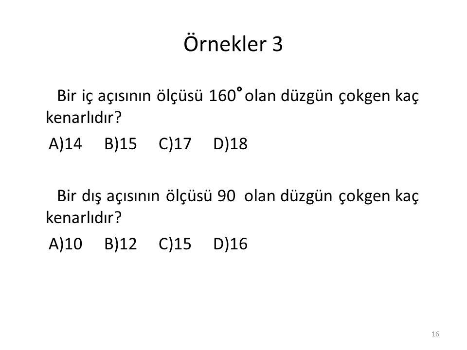 Örnekler 3