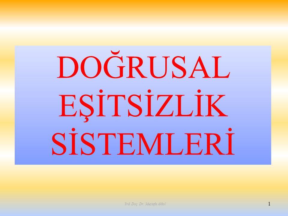 DOĞRUSAL EŞİTSİZLİK SİSTEMLERİ