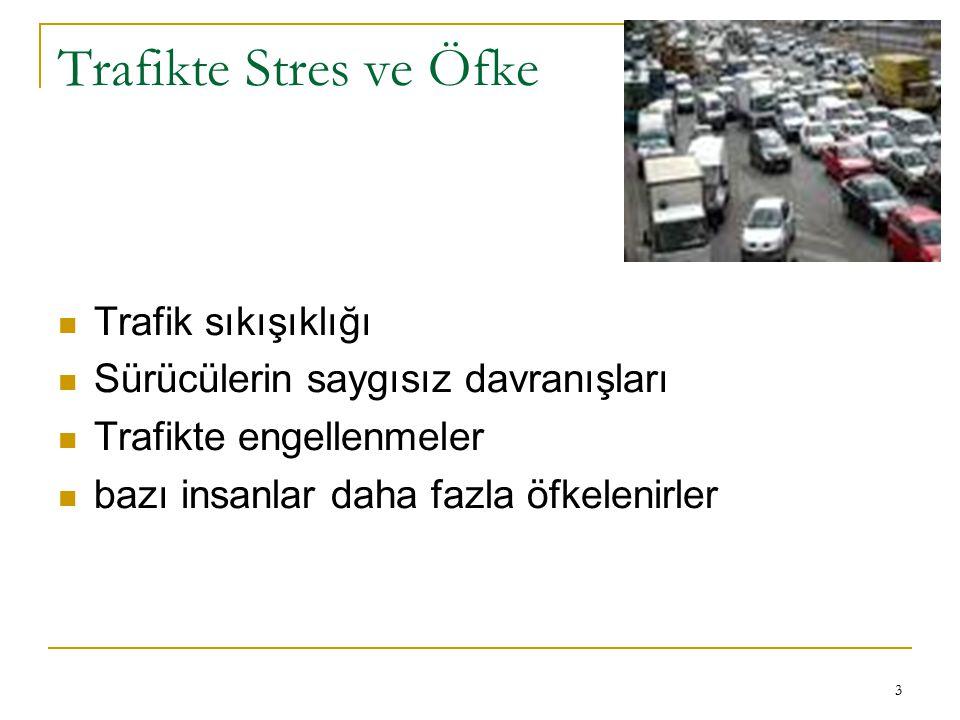 Trafikte Stres ve Öfke Trafik sıkışıklığı
