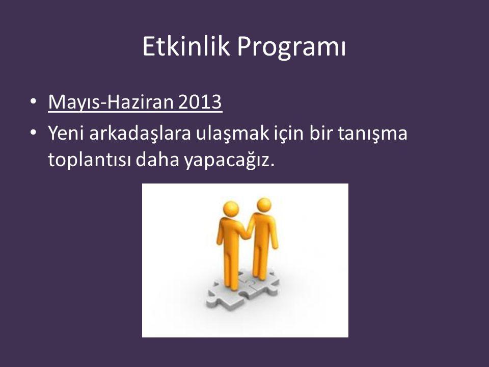 Etkinlik Programı Mayıs-Haziran 2013