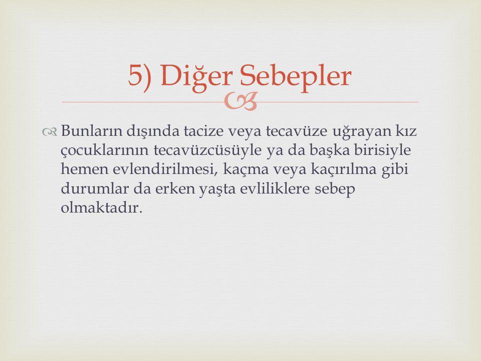 5) Diğer Sebepler