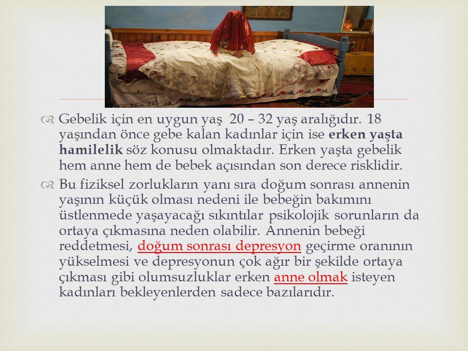 Gebelik için en uygun yaş 20 – 32 yaş aralığıdır