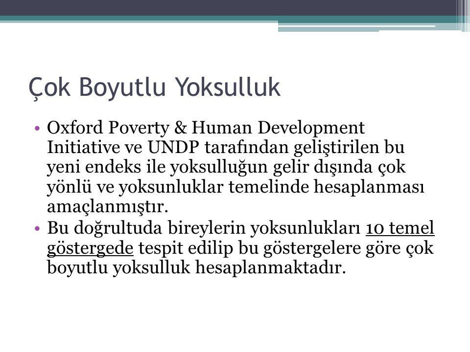 Çok Boyutlu Yoksulluk