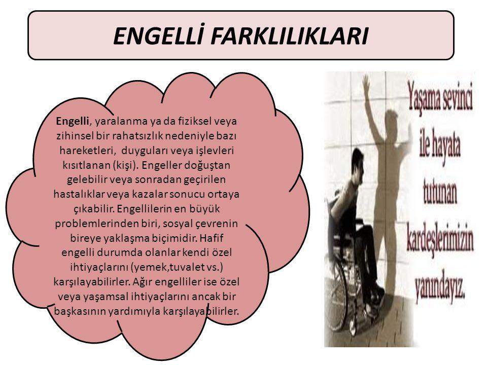 ENGELLİ FARKLILIKLARI