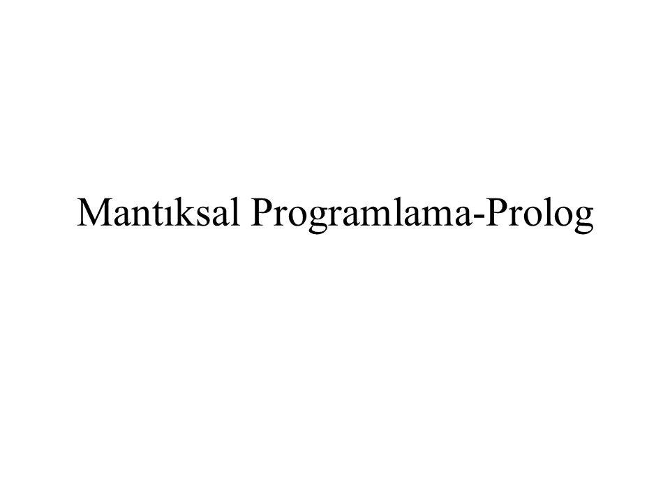 Mantıksal Programlama-Prolog