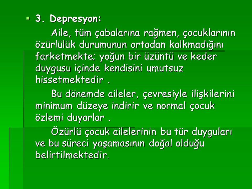 3. Depresyon:
