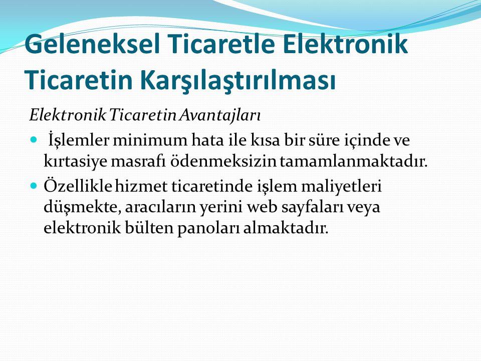 Geleneksel Ticaretle Elektronik Ticaretin Karşılaştırılması