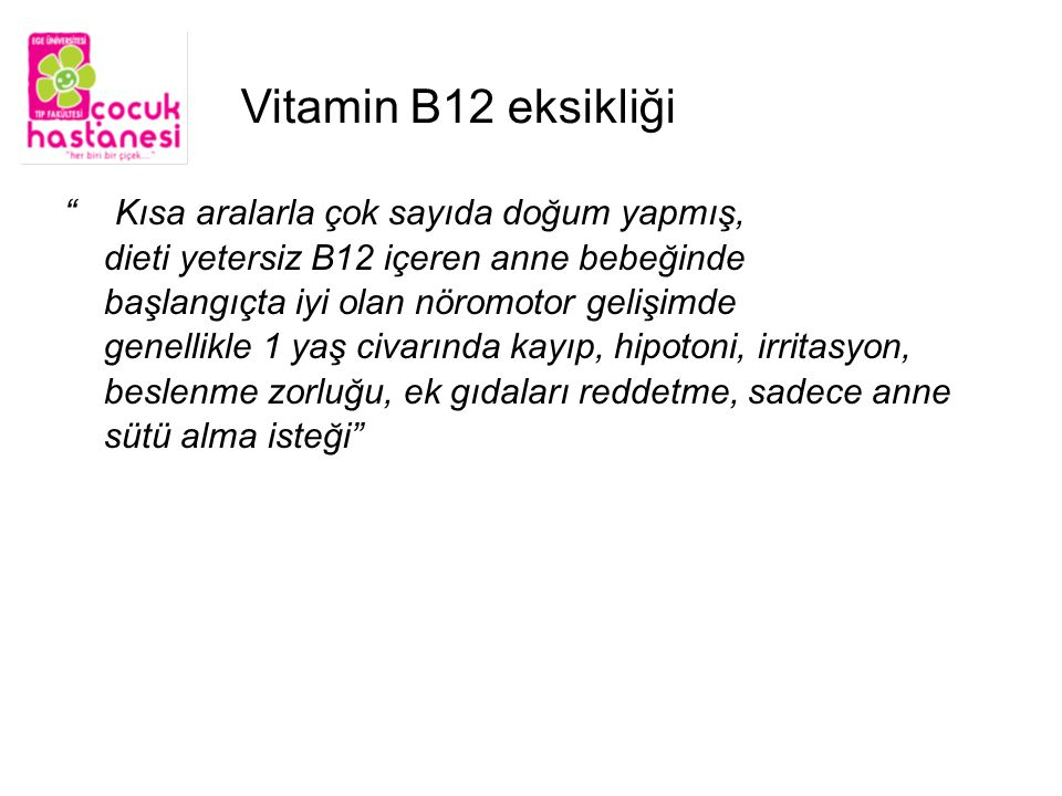 Vitamin B12 eksikliği