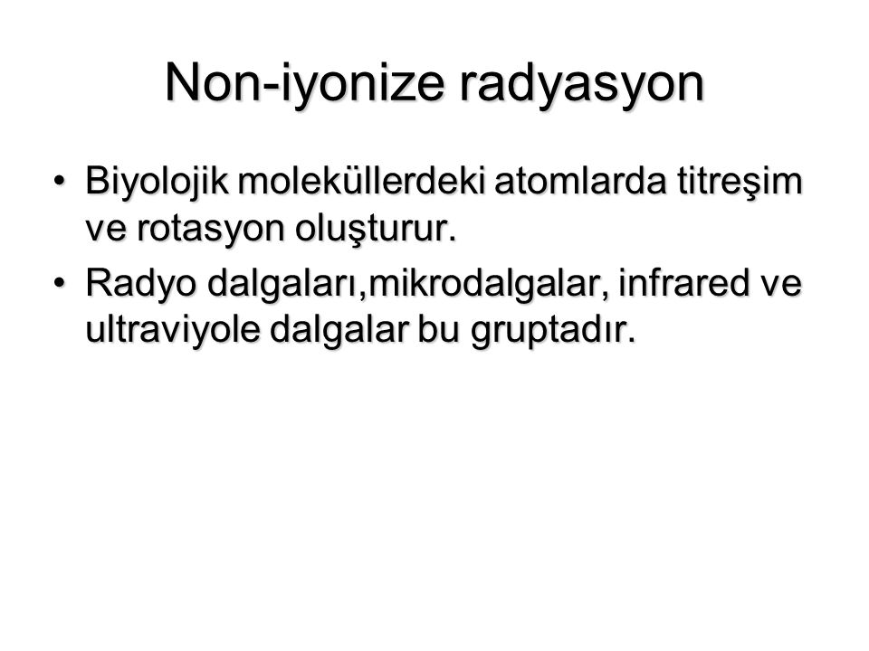 Non-iyonize radyasyon