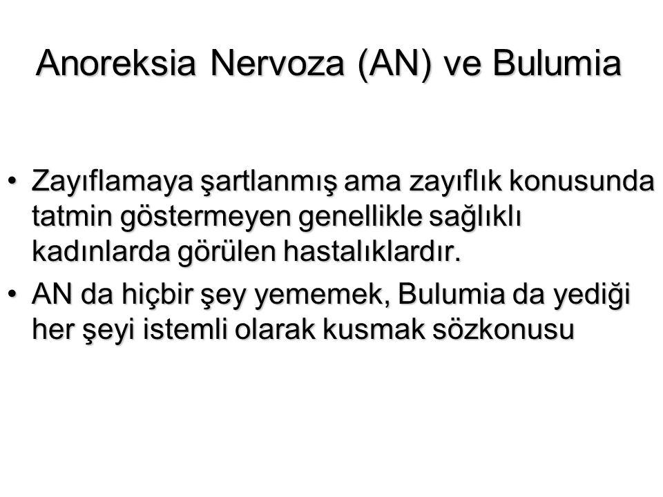 Anoreksia Nervoza (AN) ve Bulumia