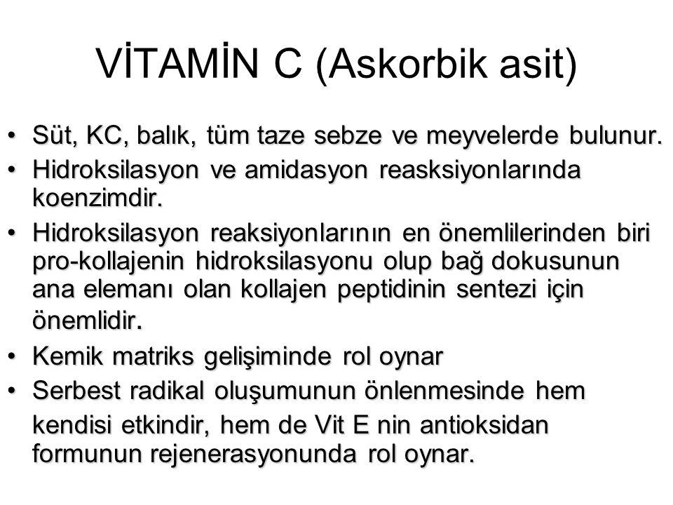 VİTAMİN C (Askorbik asit)