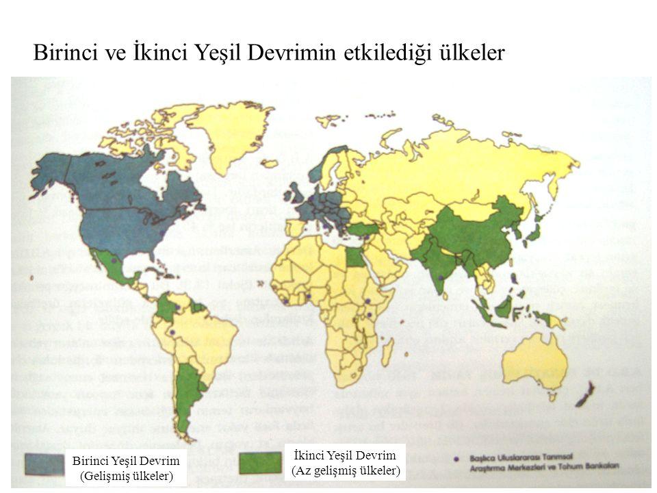 Birinci ve İkinci Yeşil Devrimin etkilediği ülkeler