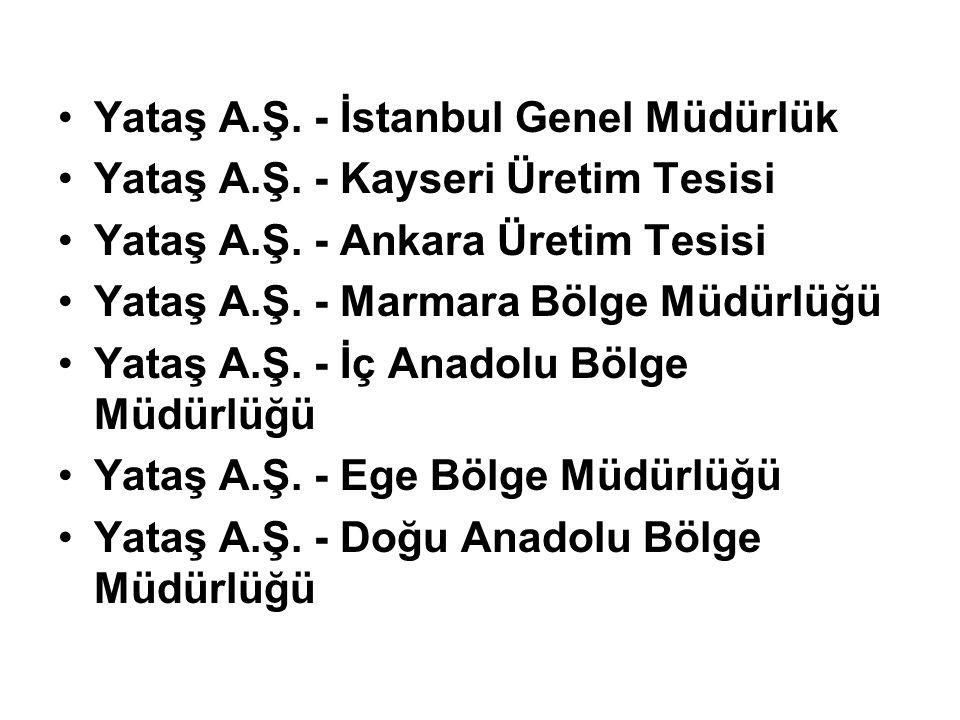 Yataş A.Ş. - İstanbul Genel Müdürlük