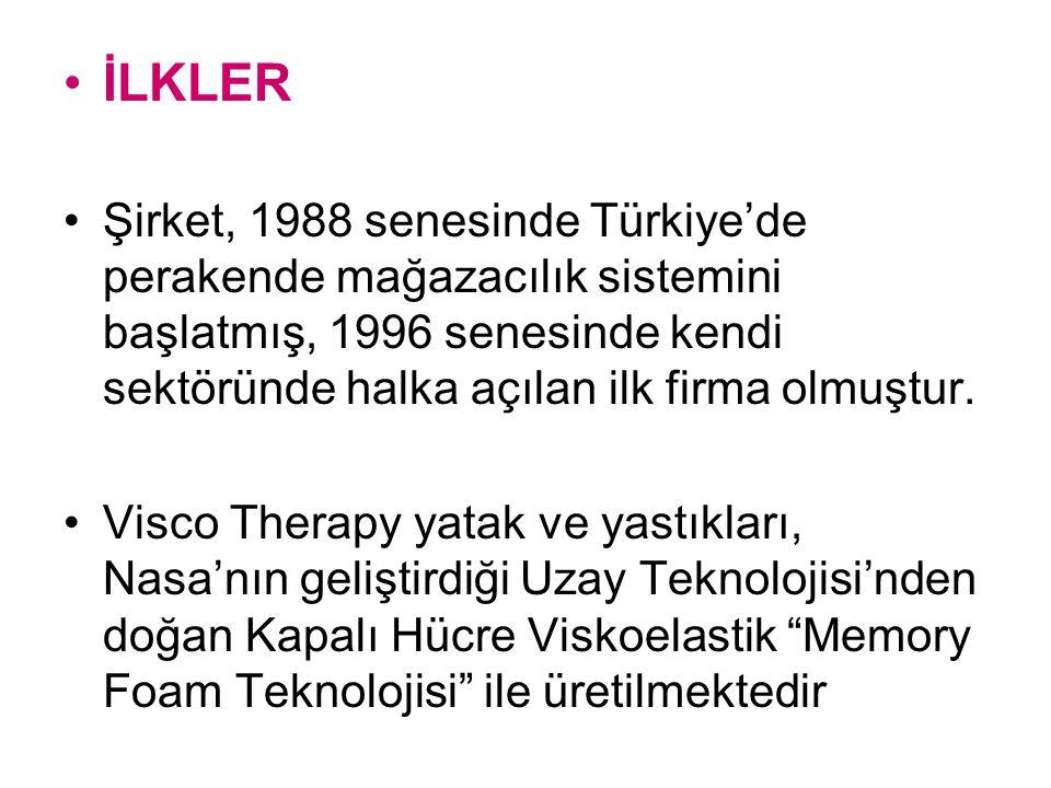 İLKLER Şirket, 1988 senesinde Türkiye'de perakende mağazacılık sistemini başlatmış, 1996 senesinde kendi sektöründe halka açılan ilk firma olmuştur.